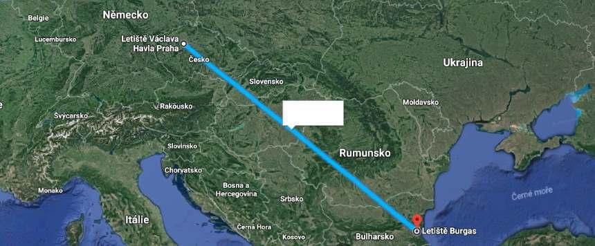 Doba a délka letu do Bulharska