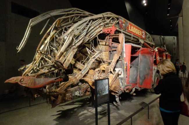 Hasičský žebřík v muzeu na Manhattanu