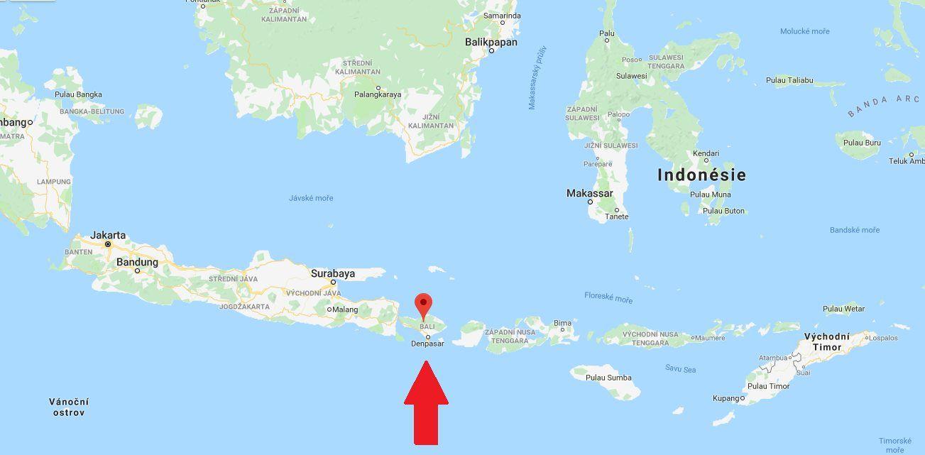 Kde Lezi A Je Ostrov Bali Mapa Sveta