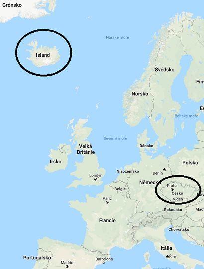 Kde leží Island na mapě světa