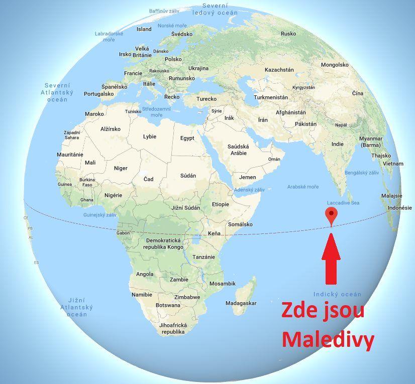 Kde leží Maledivy na mapě