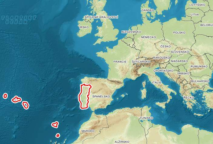 Kde leží Portugalsko na mapě poloha