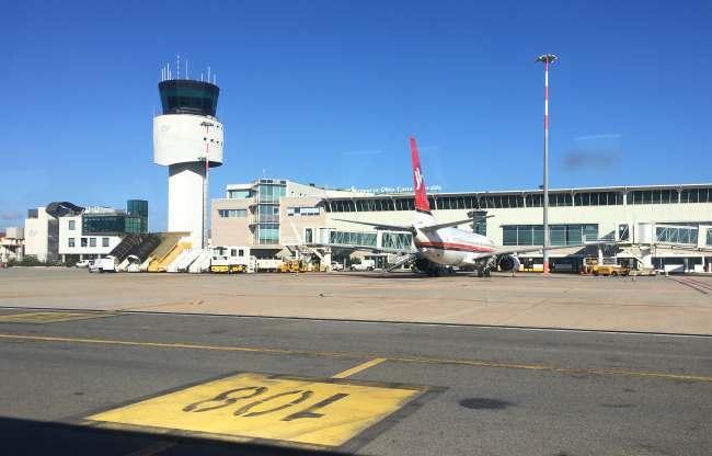 Letadla na letišti Olbia