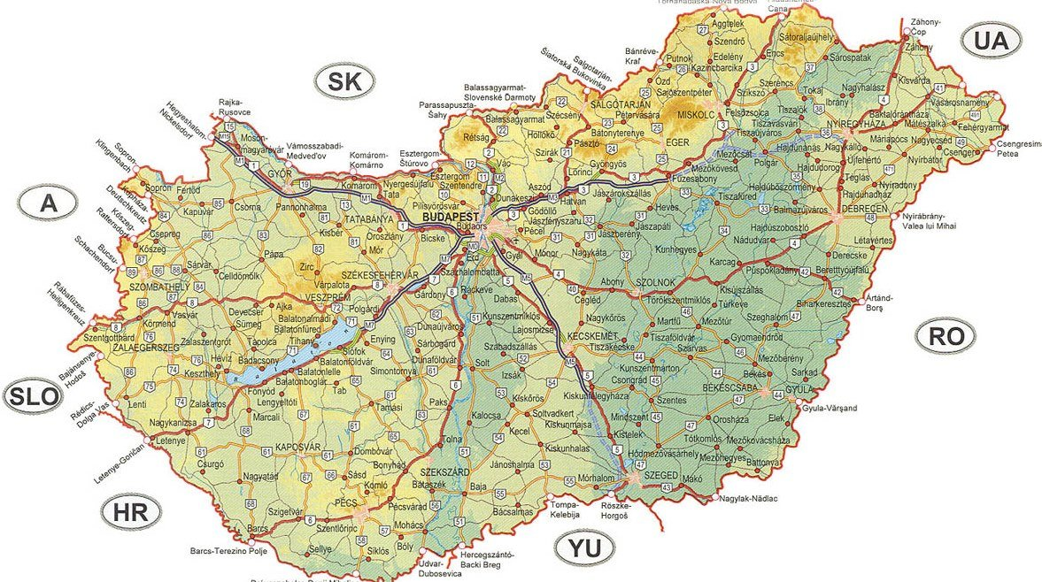 Madarsko Mapa Podrobna Mapa Online Ke Stazeni Pdf