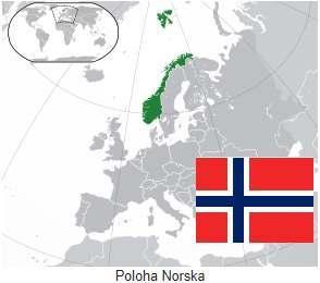 Mapa Norska kde leží na mapě