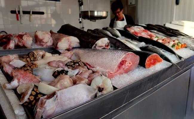 Nabídka ryb v Algarve, Portugalsko