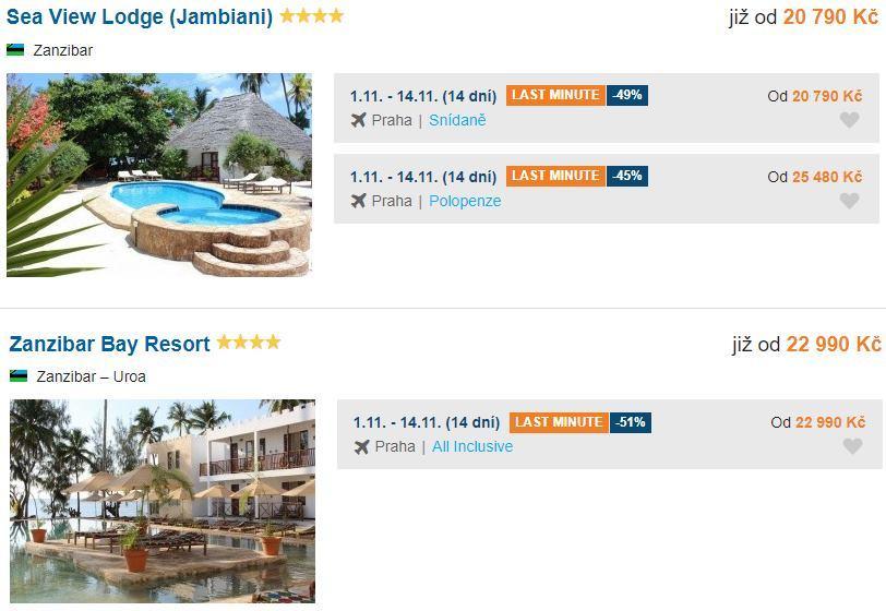 Nejlevnější zájezd na Zanzibar