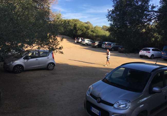 Parkoviště u Capo d´Orso placené