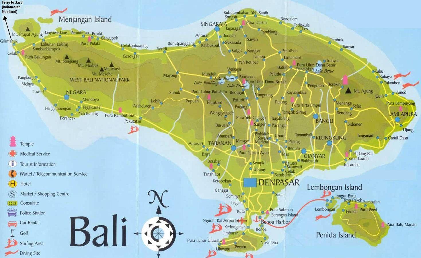 Mapa Bali Kde Je Ostrov Bali Na Mape Ke Stazeni