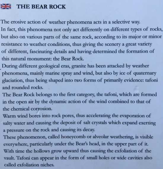 Popisek při výstupu na medvědí skálu