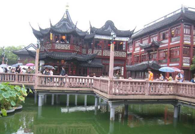 Starobylá architektura v Šanghaji