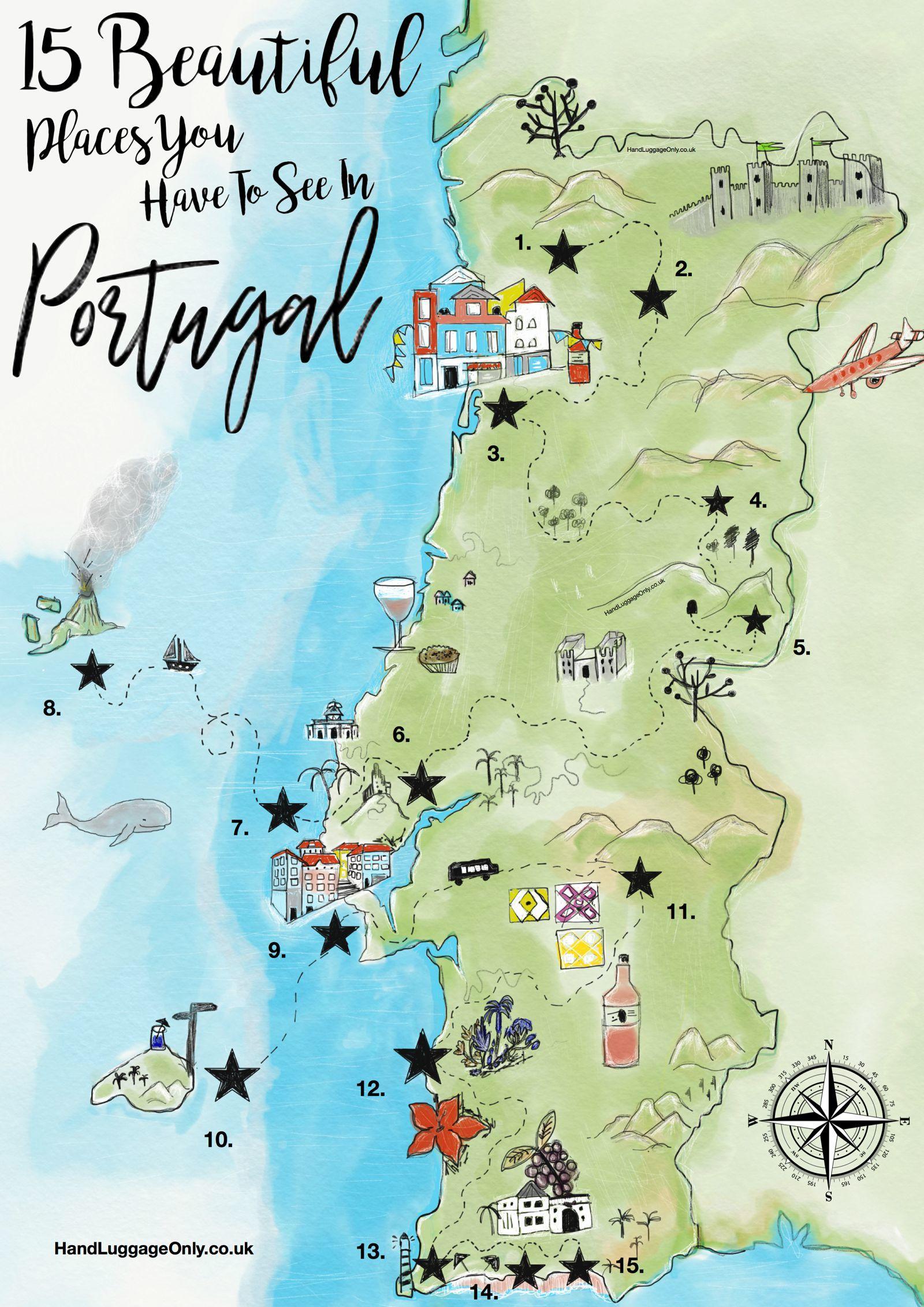 Portugalsko Mapa Kde Lezi Portugalsko Na Mape Ke Stazeni