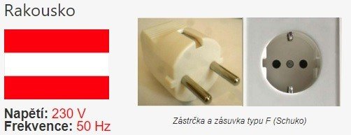 Elektrické zásuvky v Rakousku