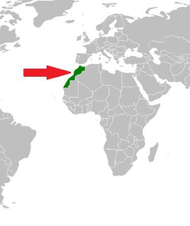 Kde je Maroko na mapě
