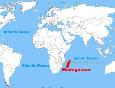 Kde leží Madagaskar na mapě světa