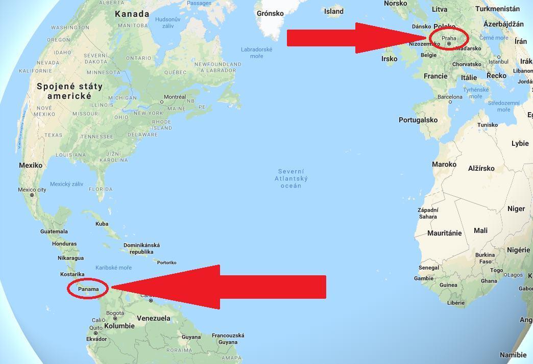 Kde leží Panama na mapě světa