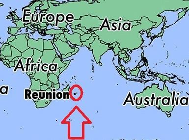 Kde leží Reunion na mapě