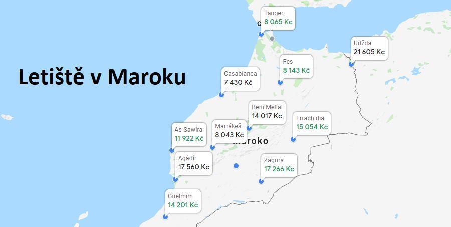 Letiště v Maroku a ceny za letenku