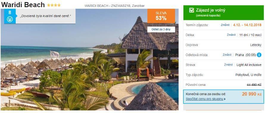 Levný zájezd letecky na Zanzibar