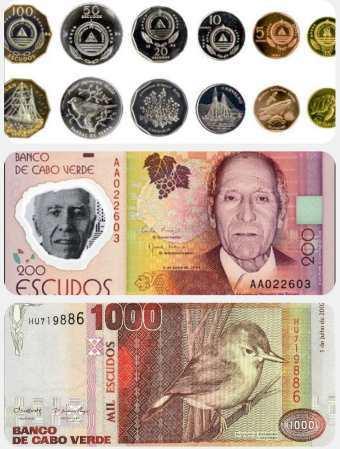 Měna na Kapverdách bankovky a mince