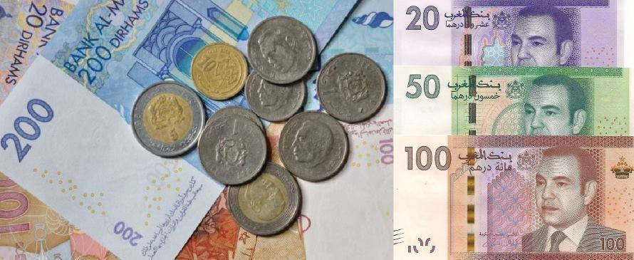 Měna v Maroku bankovky a mince