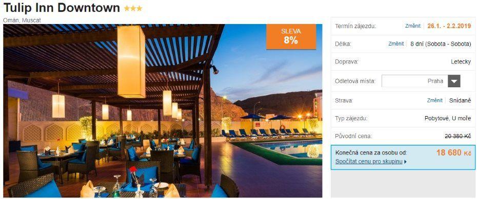 Nejlevnější dovolená do Ománu se snídaní