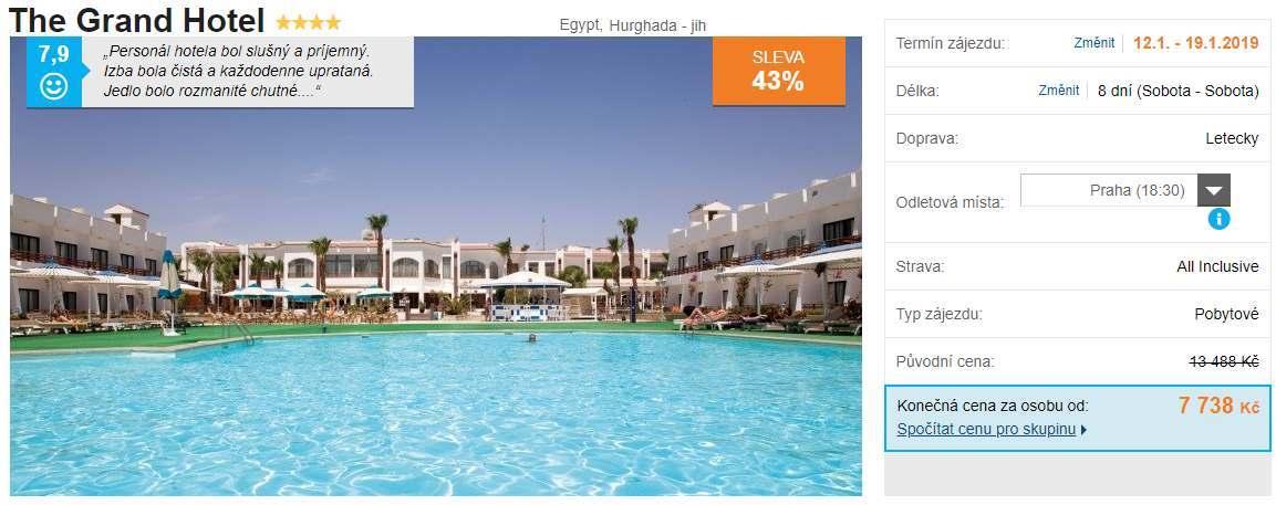 Grand hotel v egyptské Hurghadě