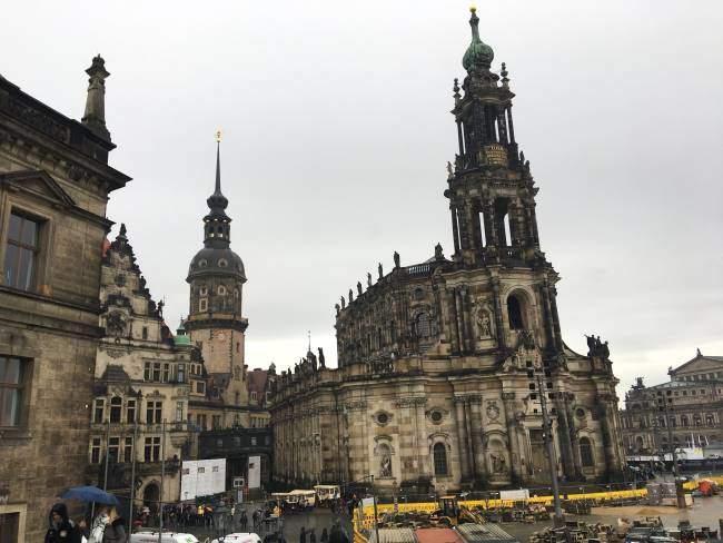 Katedrála nejsvatější trojice v centru Drážďan
