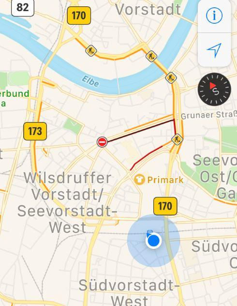 Místo kde vystoupíte v Drážďanech z busu