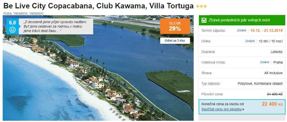 Ostrov Kuba Varadero s All Inclusive