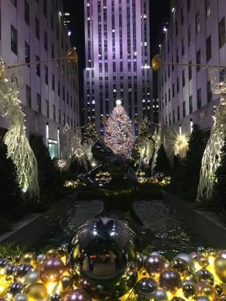 Vánoční dekorace v Americe, New Yorku