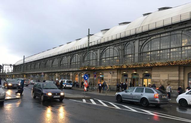 Vlakové nádraží v Drážďanech