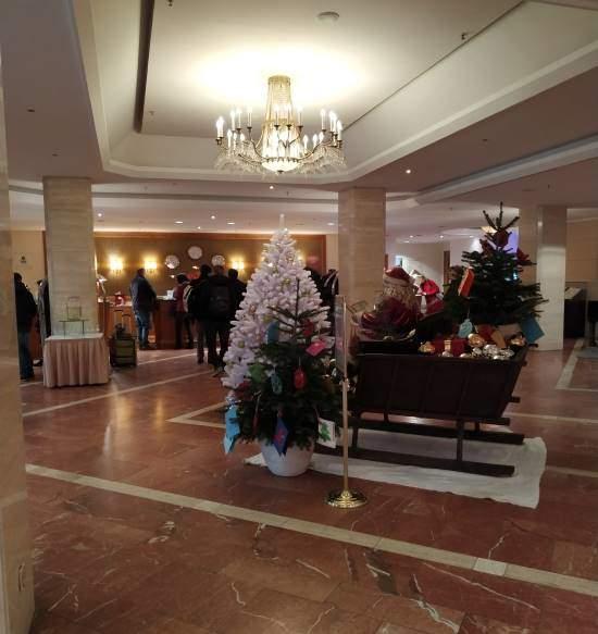 Vstupní hala hotelu Westin Bellevue v Drážďanech