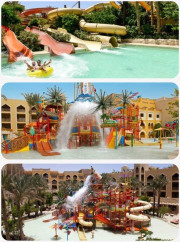 Egypt nejlevnější hotel s tobogánem Aquapark