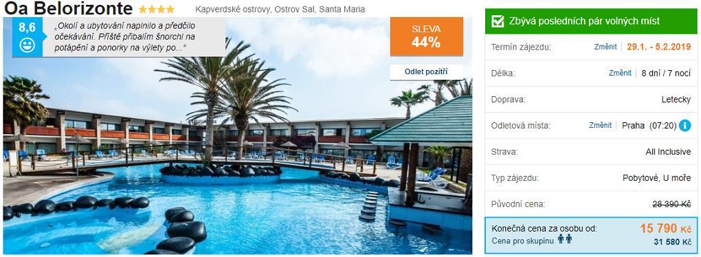 Hotel Belorizonte Kapverdy ostrov Sal