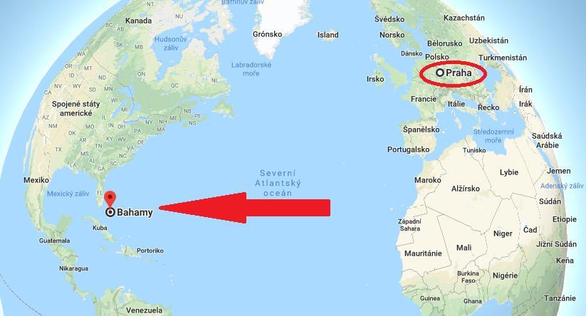 Kde leží Bahamy na mapě světa