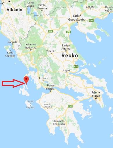 Kde leží ostrov Ithaka v Řecku na mapě