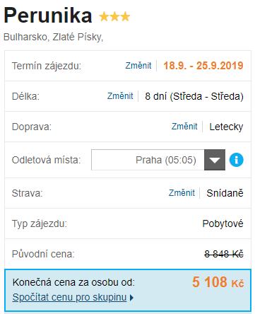Levný zájezd s předstihem do Bulharska