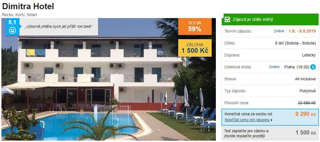 Nejlevnější hotely v Řecku s předstihem