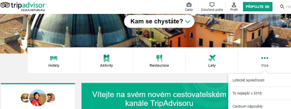 Tripadvisor recenze Česká republika