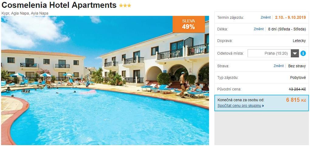 Velmi levný zájezd na Kypr