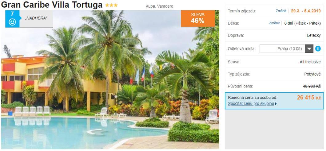 All Inclusive nejlevnější zájezd do Varadera na ostrově Kuba