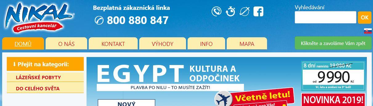 CK Nikal cestování kancelář recenze zájezdů