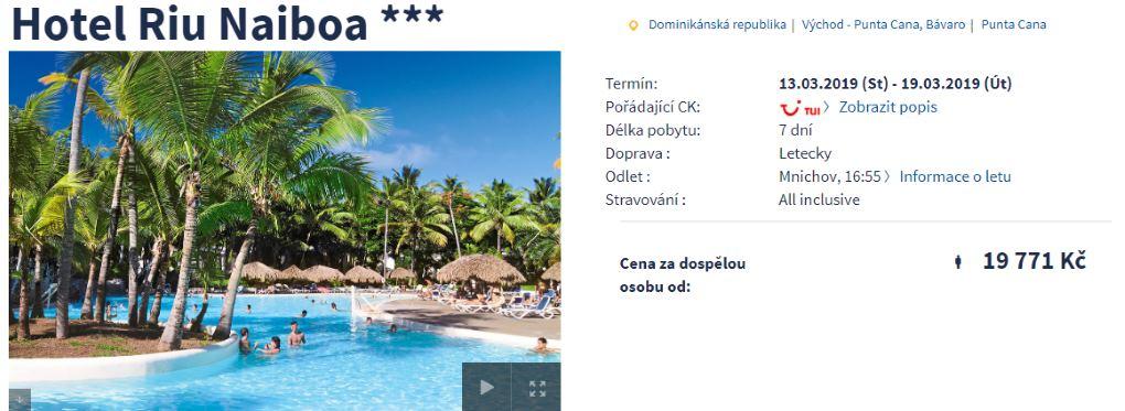 Dominikánská republika all inclusive dovolená Punta Cana odlet z Mnichova