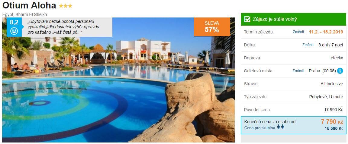 Egypt Otium Aloha hotel v Sharm el Sheikhu