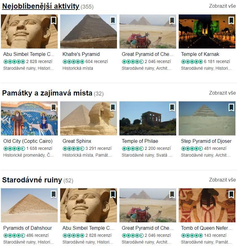 Fakultativní výlety Egypt