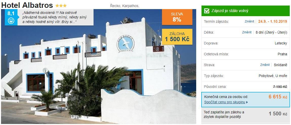 Karpathos Ŕecko levný zájezd