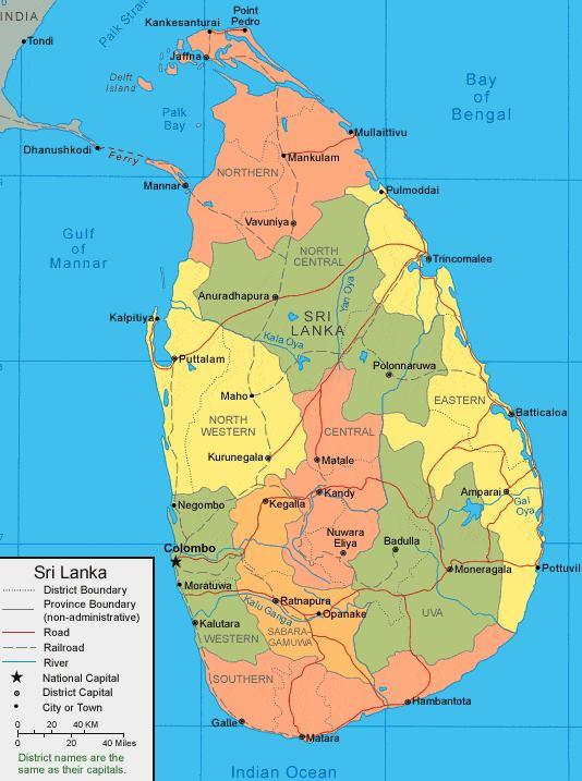 Sri lanka mapa