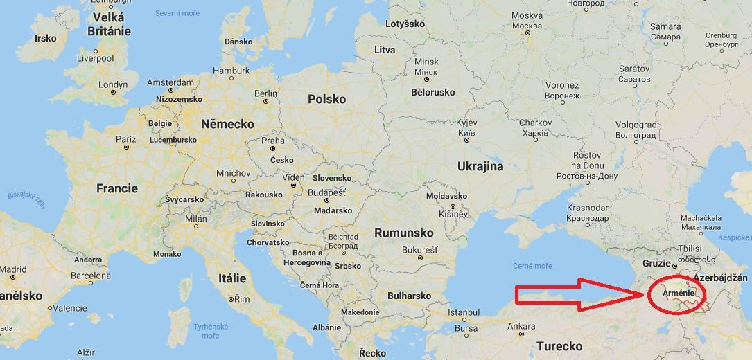 Poloha Arménie aneb kde leží na mapě Evropy