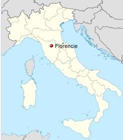 Poloha Florencie na mapě Itálie, Kde leží